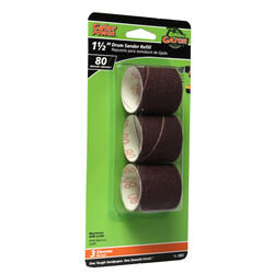 Gator 1.5 in. Dia. x 1.5 in. L Aluminum Oxide Drum Sander Refill 80 Grit Medium 3 pc.