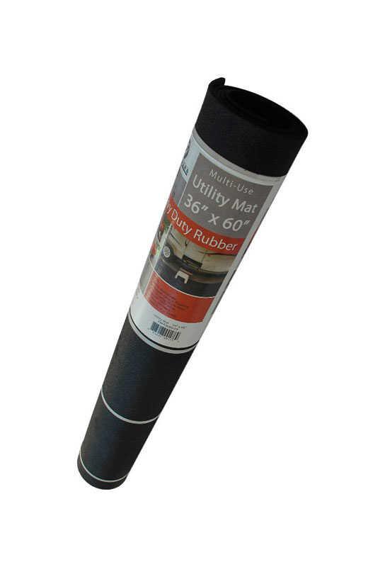 Flexgard Black Rubber Nonslip Utility Mat 60 In L X 36 In