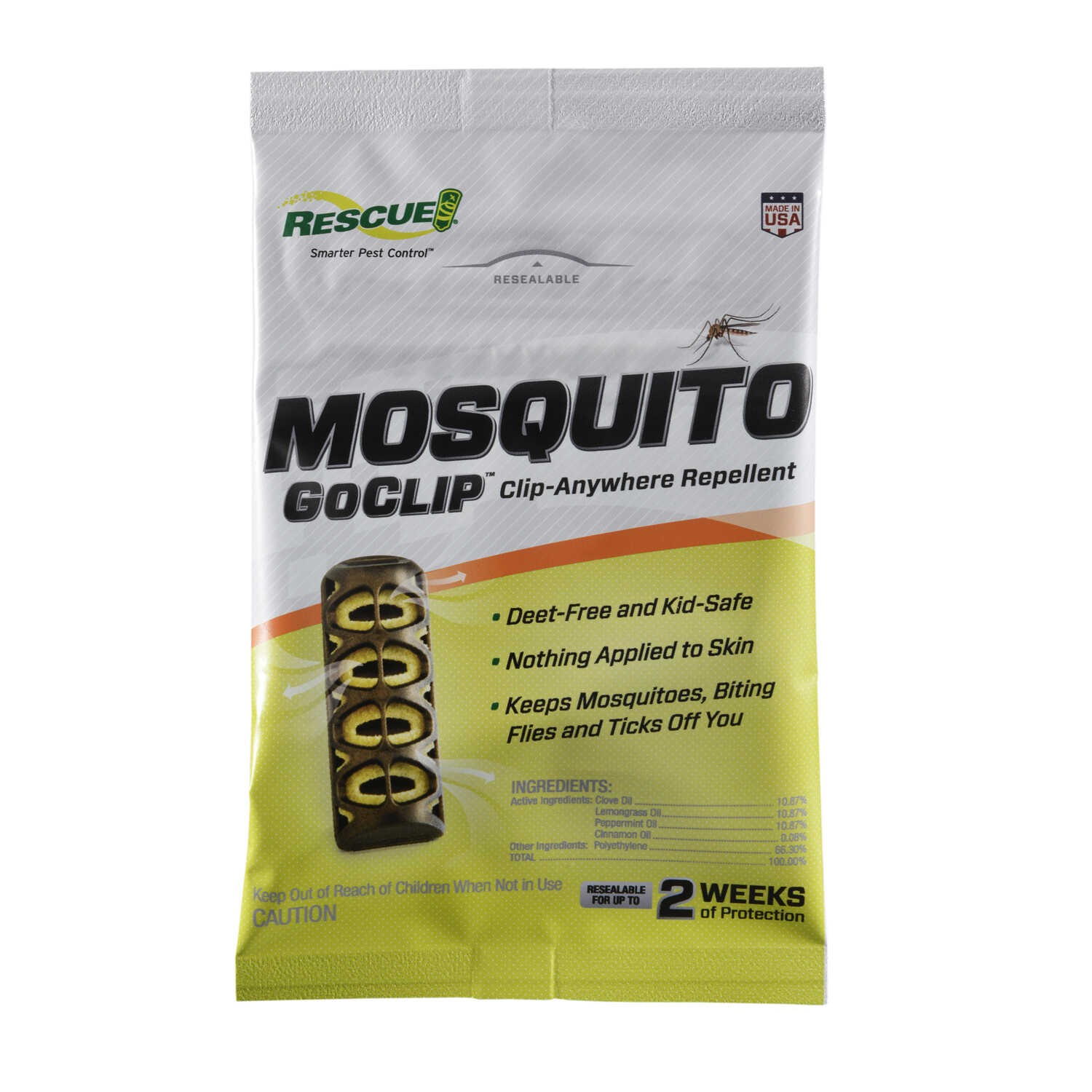 RESCUE  GoClip  Insect Repellent Device  For Mosquitoes 1 pk