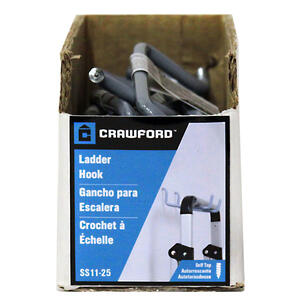Crawford  7.66 in. L Vinyl Coated  Gray  Steel  Storage  Hook  20 lb. capacity 1 pk