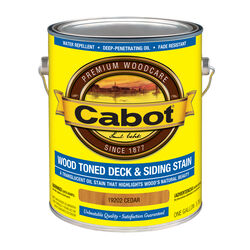 Cabot  Transparent  19202 Cedar  Oil-Based  Penetrating Oil  Deck and Siding Stain  1 gal.