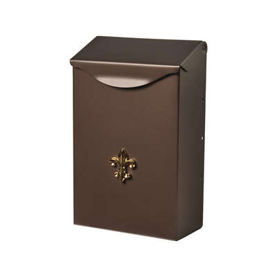 Gibraltar Mailboxes City Classic Galvanized Steel Wall Mount Venetian Bronze Mailbox