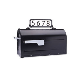 Architectural Mailboxes  Black  Plastic  Manhattan  Mailbox Name/Address Kit