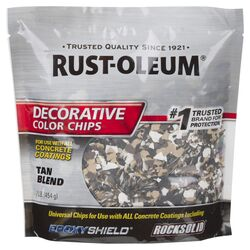 Rust-Oleum EpoxyShield Indoor and Outdoor Tan Blend Decorative Color Chips 1 lb.