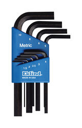 Eklind Hex-L Metric Short Arm Hex L-Key Set 9 pc.