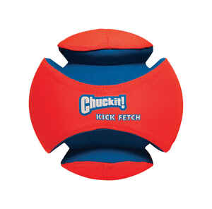 Chuckit!  Multicolored  Kick Fetch  Rubber  Ball Dog Toy  Large