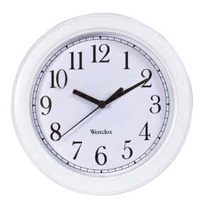 Westclox  8-1/2 in. W Indoor  Analog  Wall Clock  Plastic  White