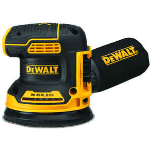 DeWalt  20V MAX XR  5 in. Cordless  Brushless Random Orbit Sander  20 volt 12000 opm Black/Yellow