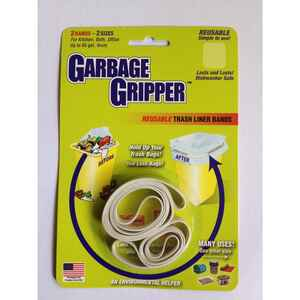 Garbage Gripper  Trash Liner Bands  2 pk