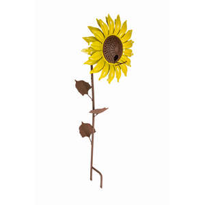 Desert Steel  Sunflower  Wild Bird  Steel  Decorative  Bird Feeder  1 ports 16 oz.