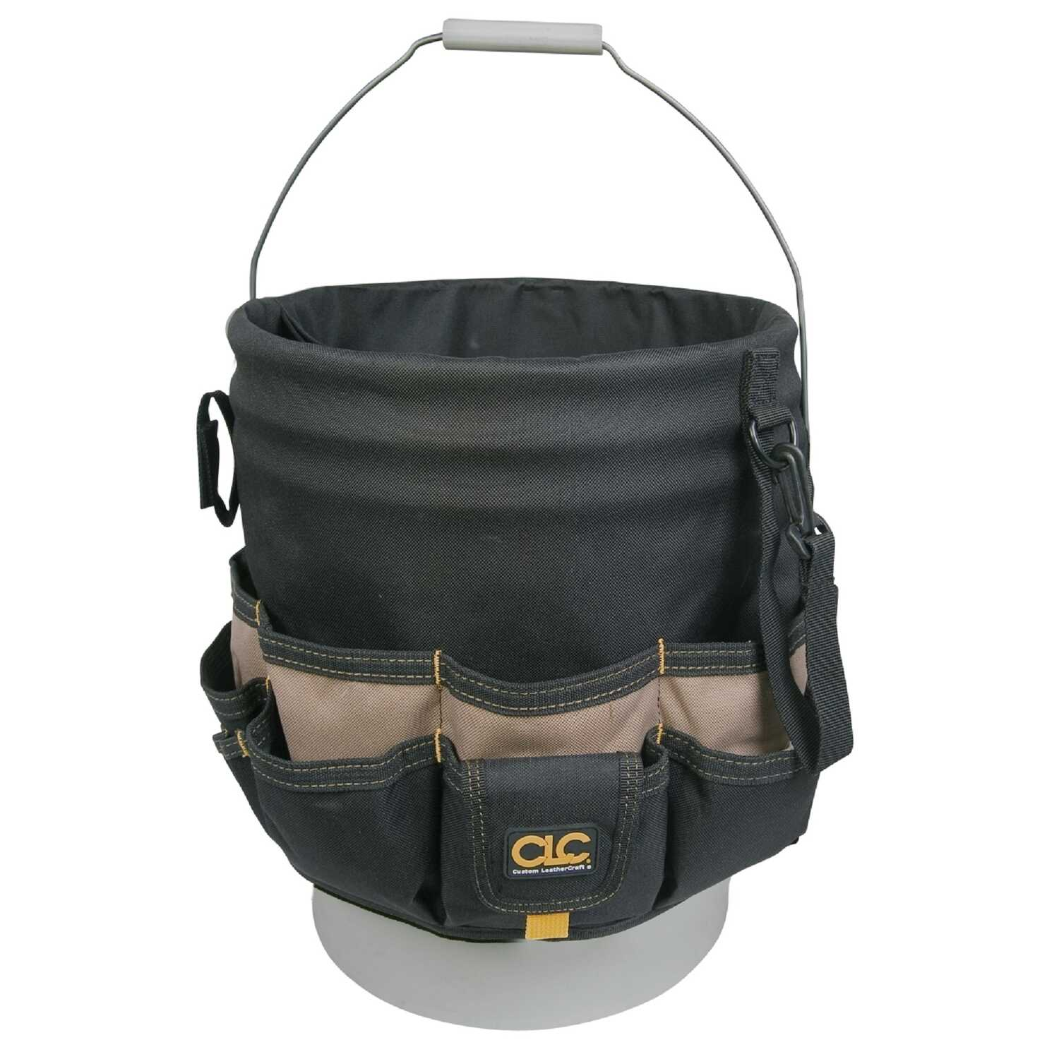CLC  3 in. W x 12.75 in. H Polyester  Bucket Organizer  48 pocket Black/Tan  1 pc.