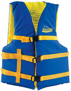 Seachoice Adult Life Vest Type III PFD 30 in. to 52 in. Blue, Yellow