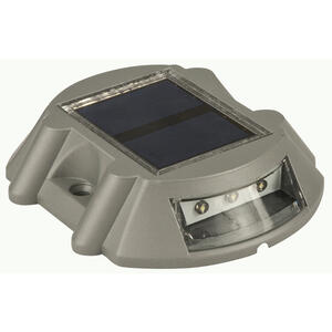 Living Accents  Gray  Solar-Powered  Deck Light  1 pk