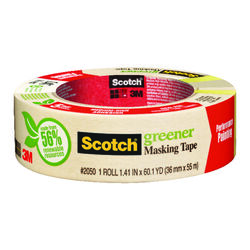 Scotch 1.41 in. W x 60.1 yd. L Tan Medium Strength Masking Tape 1 pk