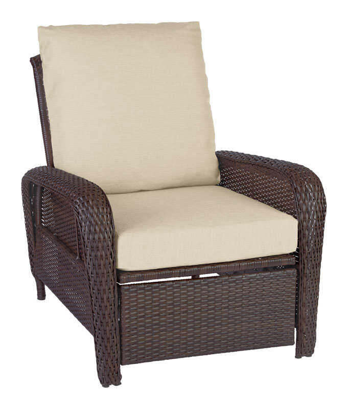 Living Accents  Brown  Resin Wicker  Reclining Chair