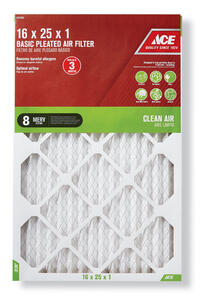 Ace  16 in. W x 25 in. H x 1 in. D Pleated  Pleated Air Filter