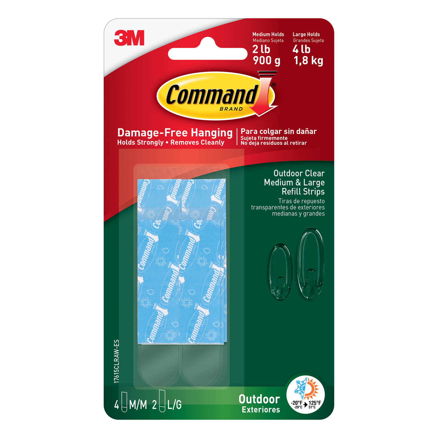 3M  Command  Assorted  Adhesive Strips  1-3/4 in. L 6 pk Foam