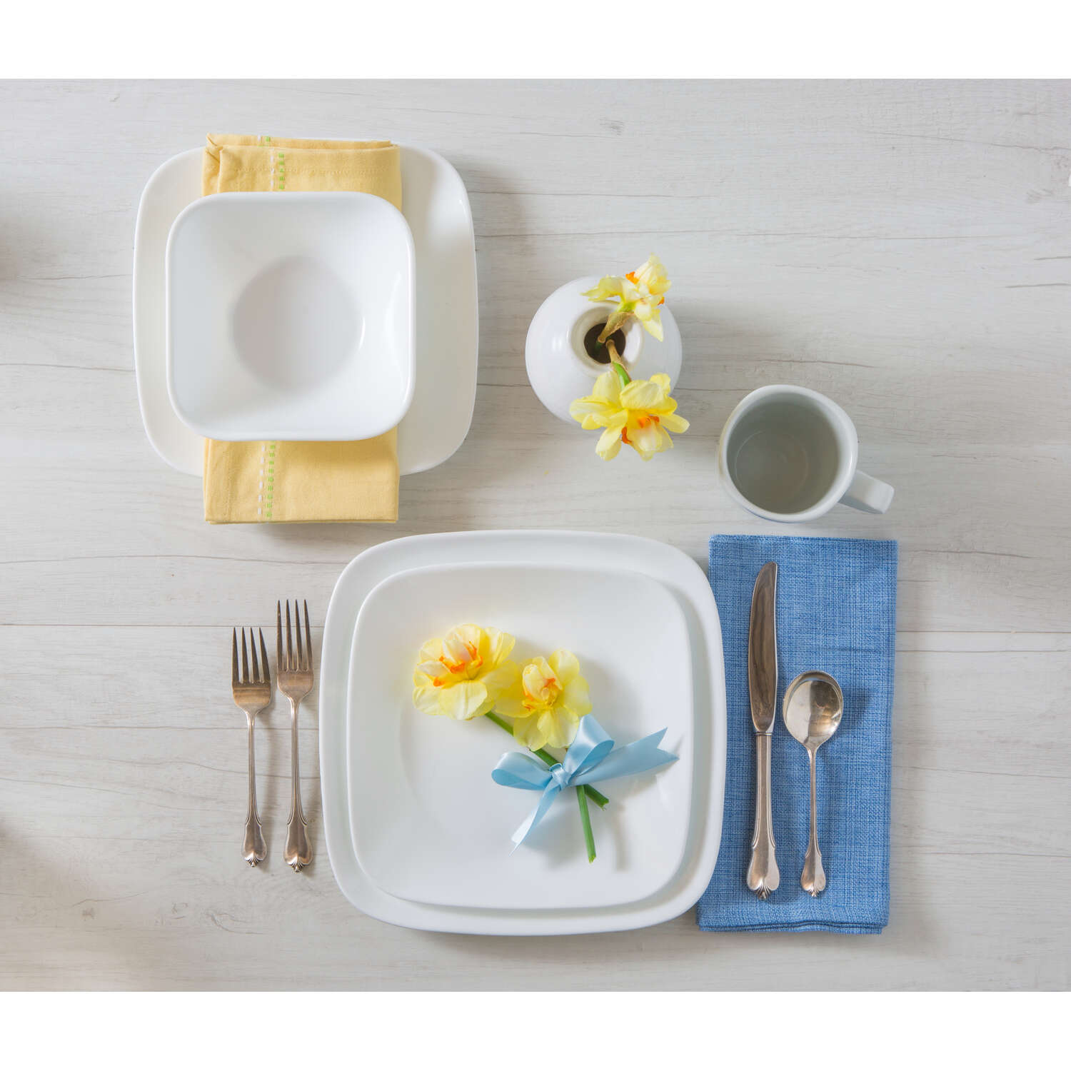 Corelle  White  Glass  Dinnerware Set  Dinnerware Set  16 pc.
