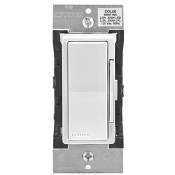 Leviton  Decora  White  600 watt Bluetooth  Dimmer  1 pk