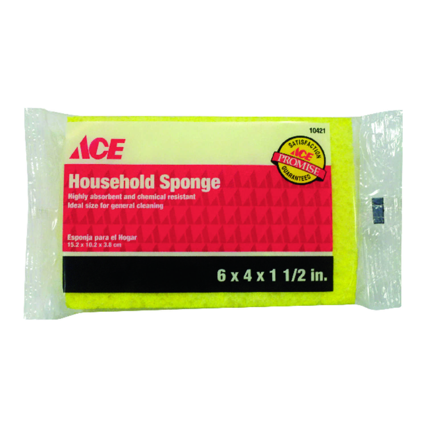 Ace  Household  Delicate, Light Duty  Sponge  5.5 in. L 1 pk