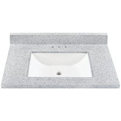 Continental Cabinets  Single  Gloss  Sterling  Vanity Top  30 in. W x 21 in. D x Any in. H