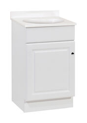 Continental Cabinets  Single  Satin  White  Vanity Combo  18 in. W x 16 in. D x 32 in. H