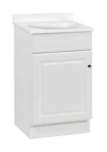 Continental Cabinets  Single  Bright  White  Vanity Combo  18 in. W x 16 in. D x 32 in. H