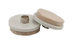 Shepherd  Beige  1-1/2 in. Nail-On  Felt  Cushioned Glide  4 pk