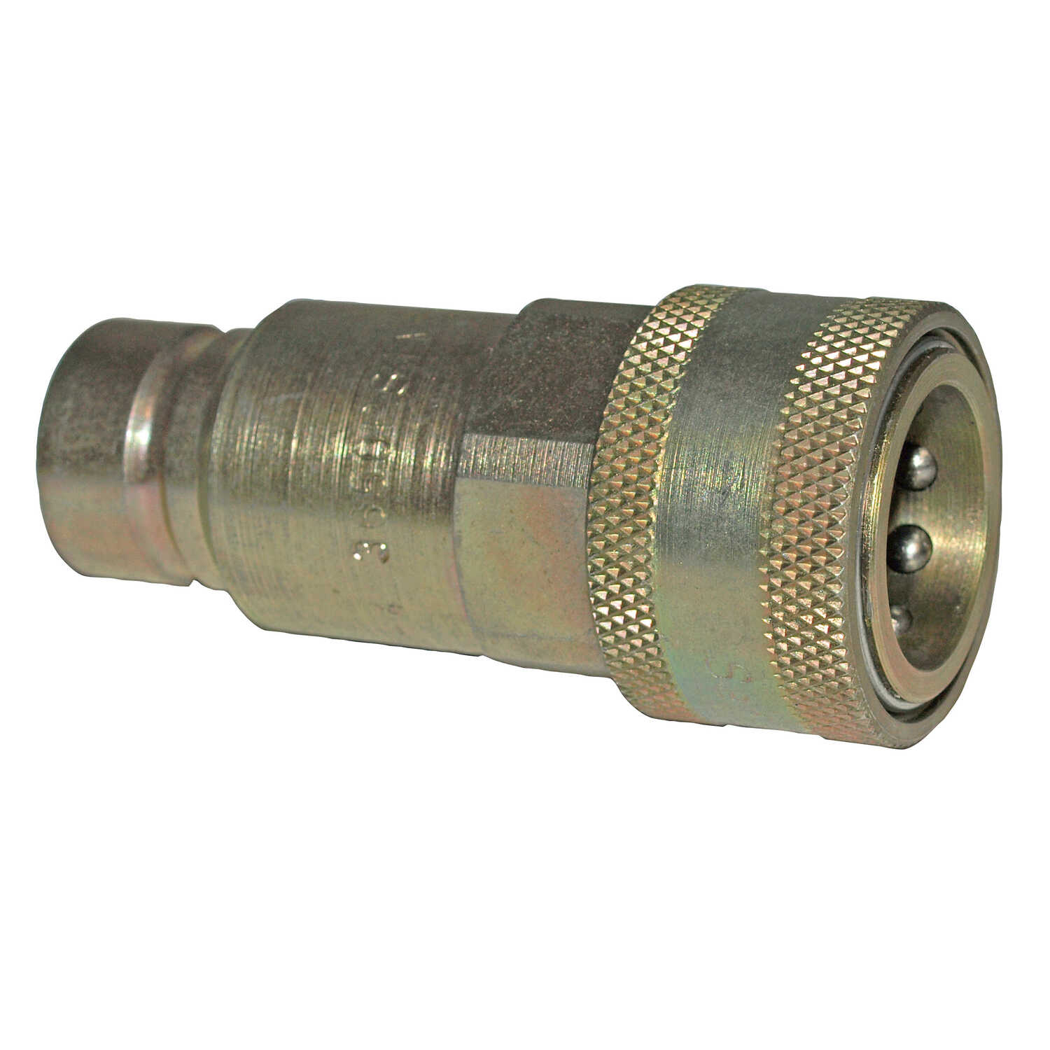 Apache  0.5 in. Dia. 3000 psi Flat Face Hydraulic Adapter  Steel