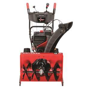 Craftsman  Quiet  26 in. W 208 cc Two Stage  Electric Start  Snow Blower