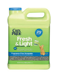 Cat's Pride  Fresh & Light  No Scent Cat Litter  15 lb.