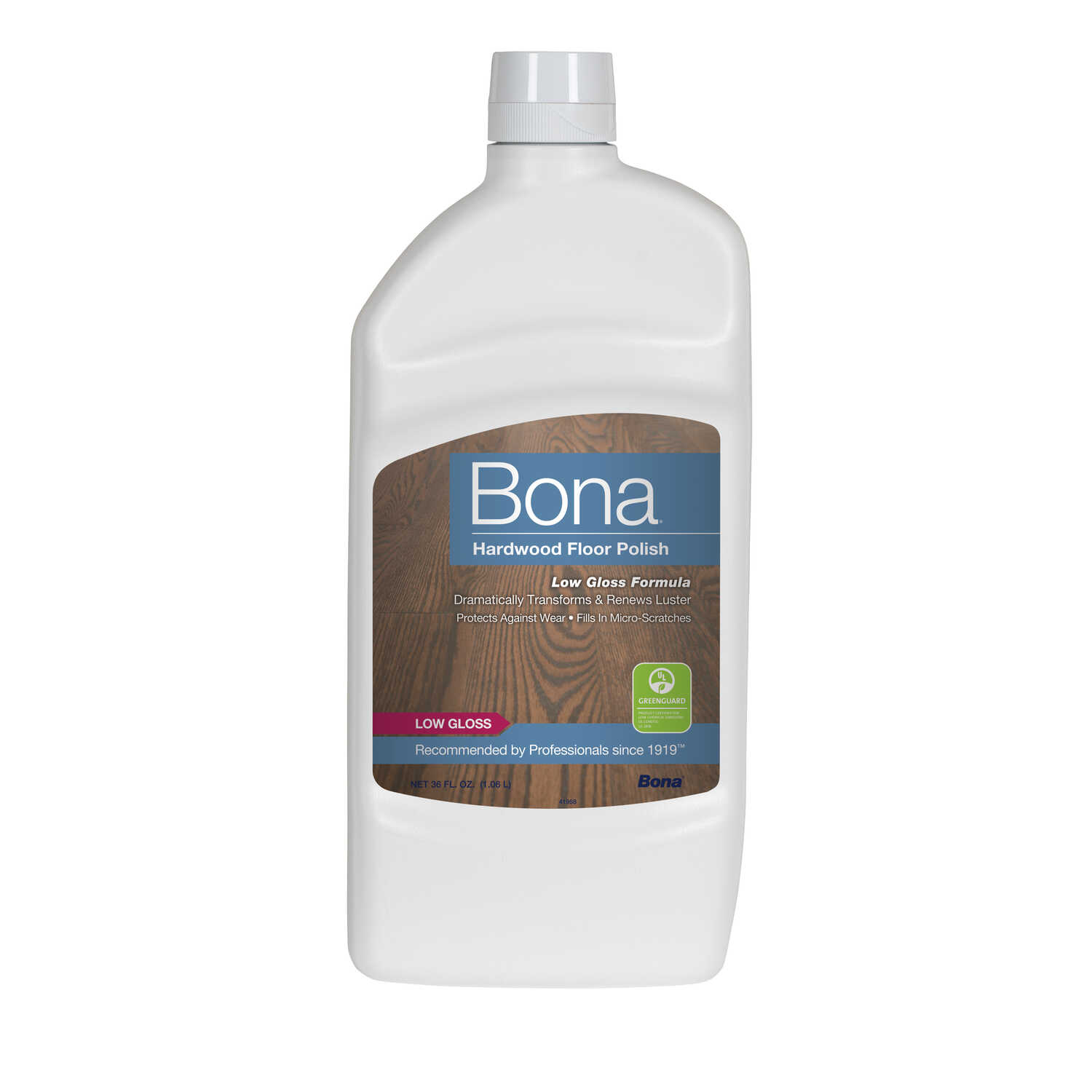 Bona  Low Gloss  Hardwood Floor Polish  Liquid  36 oz.