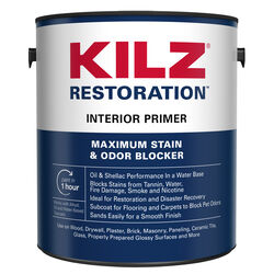 KILZ  Restoration  White  Flat  Water-Based  Primer and Sealer  1 gal.