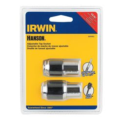 Irwin  Hanson  3/8 in. drive  #0 to 1/2 in.  Tap Adapter Set  2 pc.