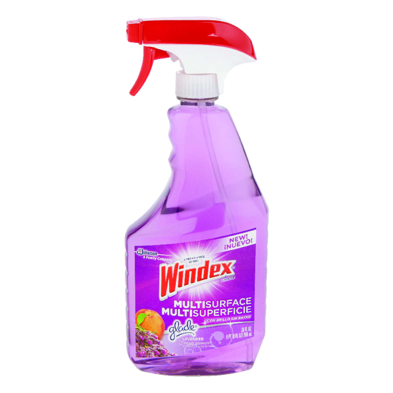 Windex  Glade  Lavender and Peach Blossom Scent All Purpose Cleaner  23 oz. Liquid  For Multi-Surfac