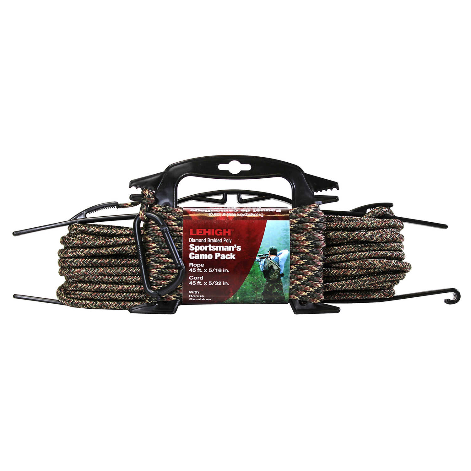 Wellington  5/16 in. Dia. x 45 ft. L Camouflage  Diamond Braided  Poly  Rope