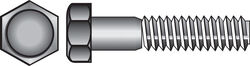 Hillman  3/8 in. Dia. x 2-1/2 in. L Zinc Plated  Steel  Hex Bolt  50 pk