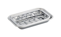 InterDesign  Gia  Soap Dish  1.3 in. H x 4 in. W x 5.75 in. L Chrome  Silver  Stainless steel
