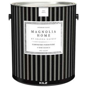 Magnolia Home  KILZ  Semi-Gloss  True White  Cabinet and Trim Paint  Indoor  1 gal.