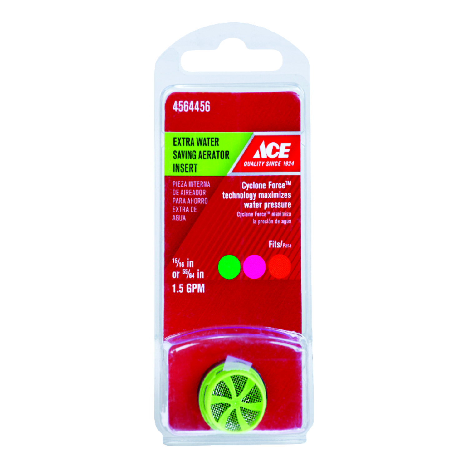 Ace  Aerator Insert  15/16 in.  x 55/64 in.  Green