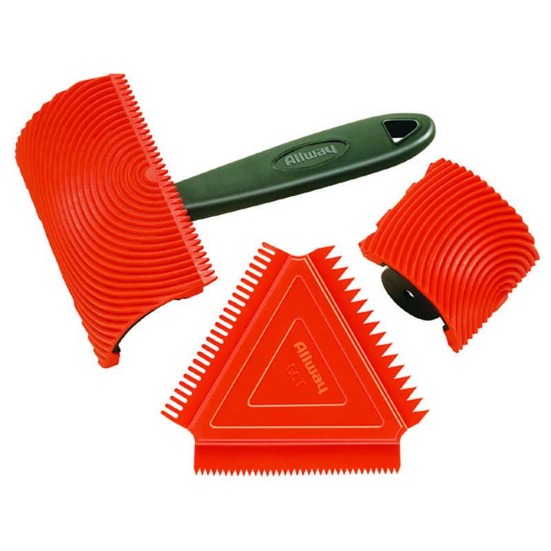 Allway  Orange  Plastic  Wood Graining Set