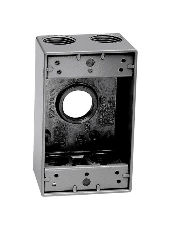 Sigma  Rectangle  Aluminum  Outlet Box  Gray  4-1/2 in. 1 Gang