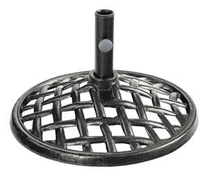Living Accents  Brown  Cast Iron  Umbrella Base  20  L x 11 in. H x 20 in. W