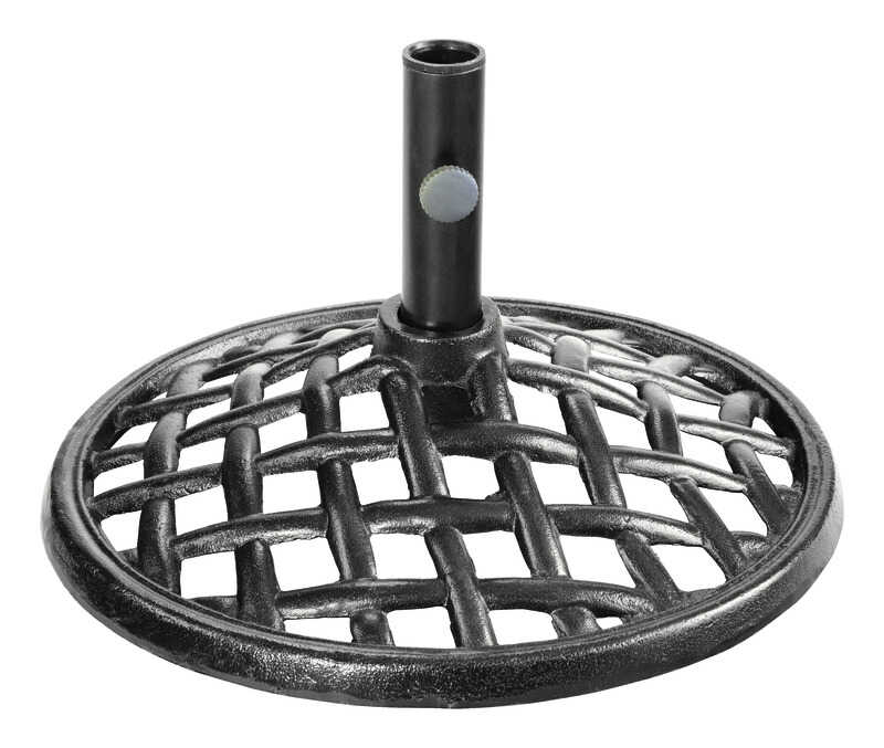 Living Accents  Brown  Cast Iron  Umbrella Base  20 in. L x 20 in. W x 11 in. H