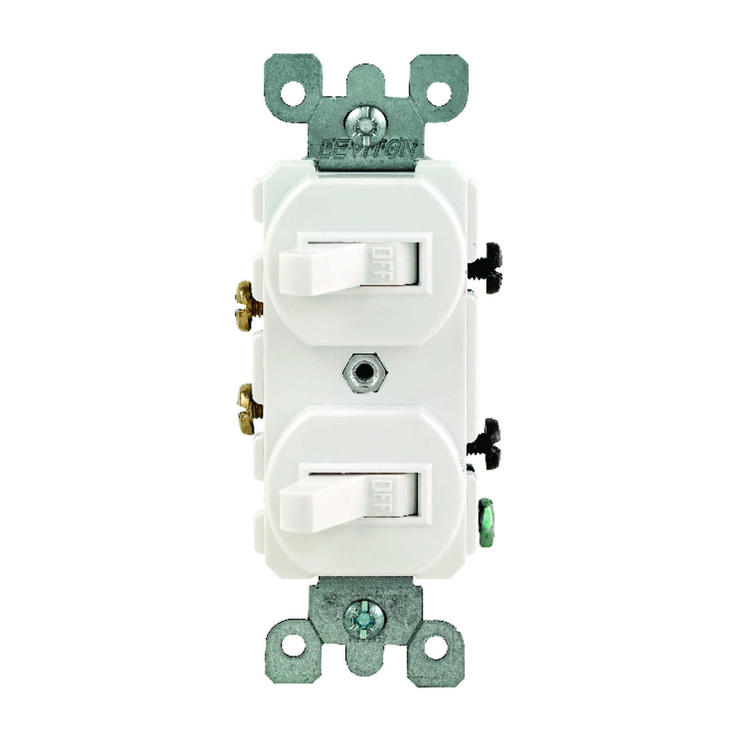 Leviton  15 amps Toggle  Switch  1  White