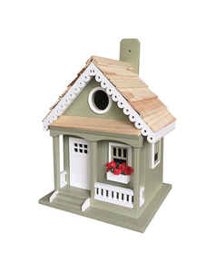 Home Bazaar  9.25 in. H x 5.9 in. W x 7.67 in. L Wood  Bird House