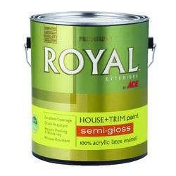 Ace  Royal  Semi-Gloss  Neutral Base  House & Trim Paint & Primer  1 gal.