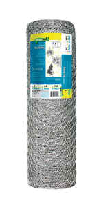 Garden Zone  24 in. H x 150 ft. L 20 Ga. Silver  Poultry Netting