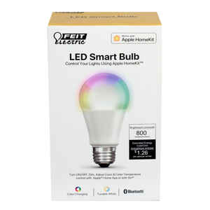 FEIT Electric  A19  E26 (Medium)  LED Smart Bulb  Color Changing  60 Watt Equivalence 1 pk
