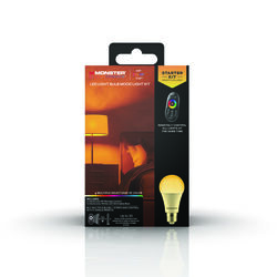 Monster Just Color It Up  Illuminessence  A19  E26 (Medium)  Mood Light Color Bulb Kit  Multi-Colore